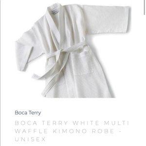 Other - BOCA TERRY WHITE MULTI WAFFLE KIMONO ROBE